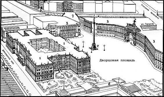 Район Дворцовой площади Санкт-